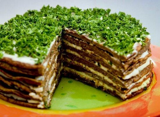 как готовить из говяжей печени торт печеночный торт рецепт