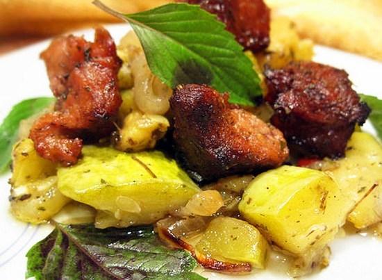 рецепты картошки в духовке с мясом без сыра