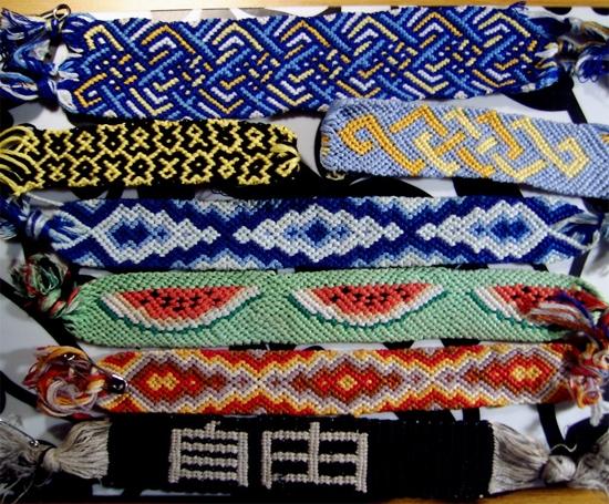 Основные техники плетения фенечек