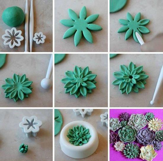Цветыиз из мастики
