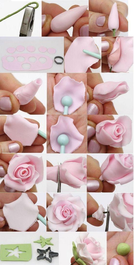 Как приготовить розы из мастики?