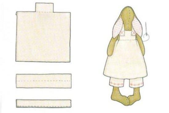 Заяц тильда: выкройка одежды