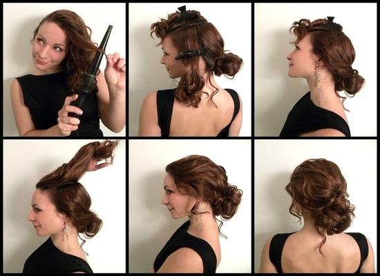 как создать вечернюю прическу на средние волосы