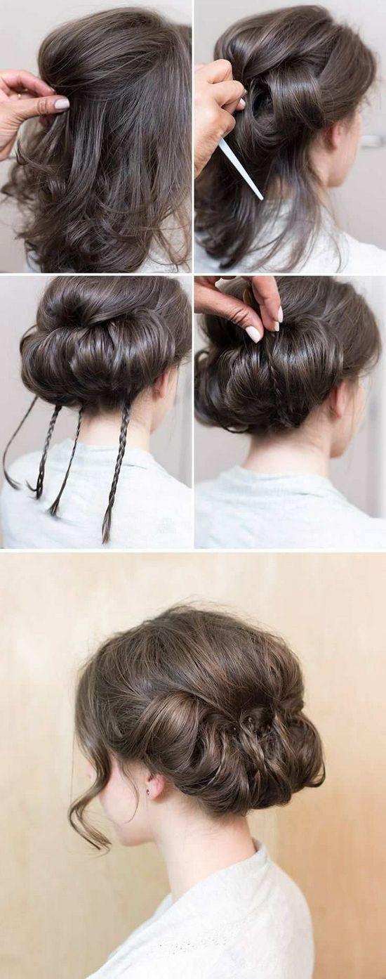 Прически на волосы средней длины своими руками