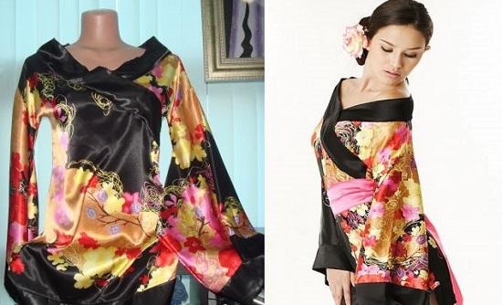 Халат-кимоно: выкройка