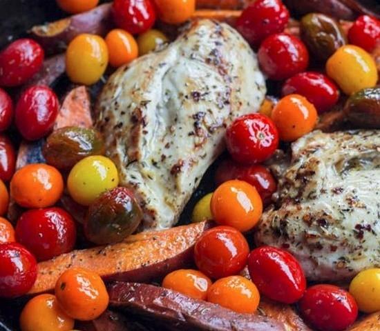 Рецепт курицы в банке с овощами