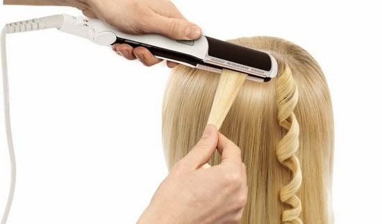 Завивка волос домашних условиях плойкой