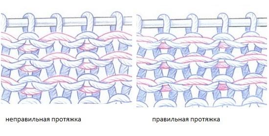 Жаккардовые узоры с протяжкой
