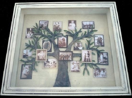 Родословное древо в рамке под стеклом