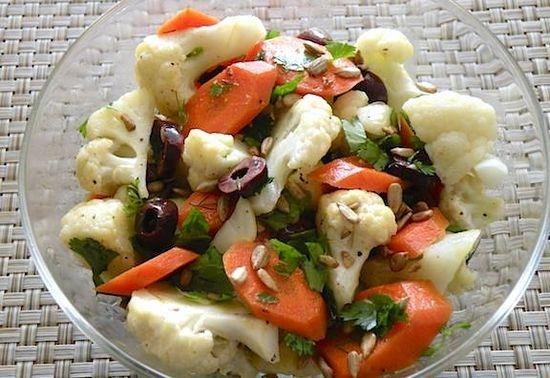 Фото рецепты острый салат из цветной капусты