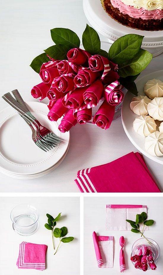 Розы своими руками в кухне