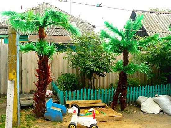 Пальма из баклажек