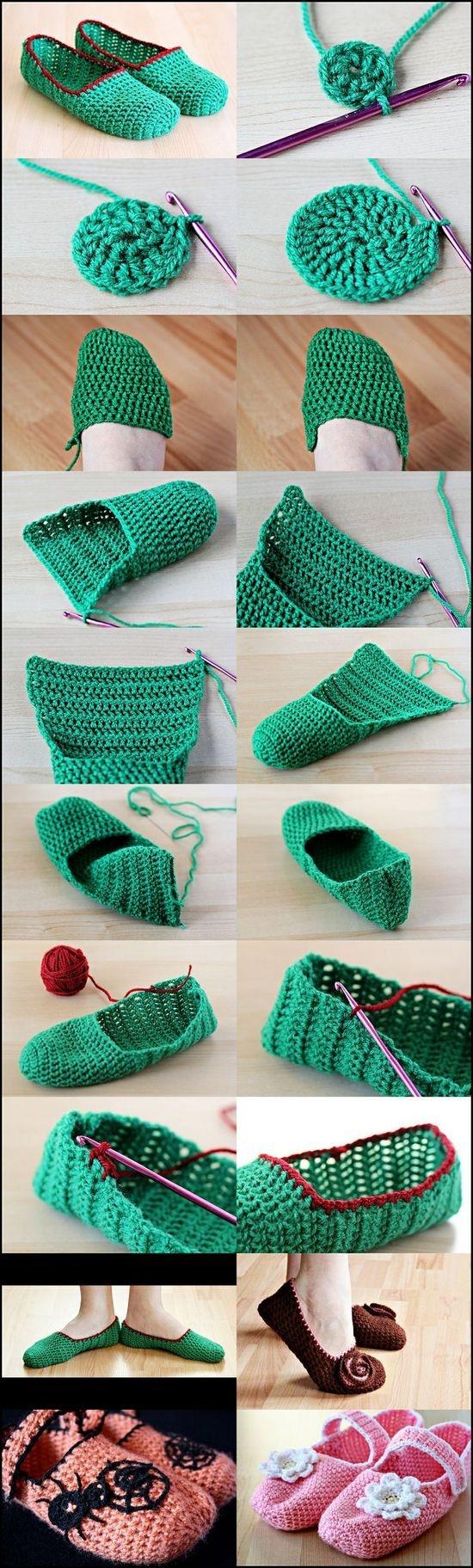 Вязание тапочек крючком: мастер-классы
