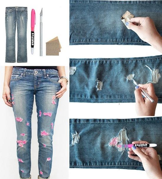 Рваные джинсы своими руками мастер класс