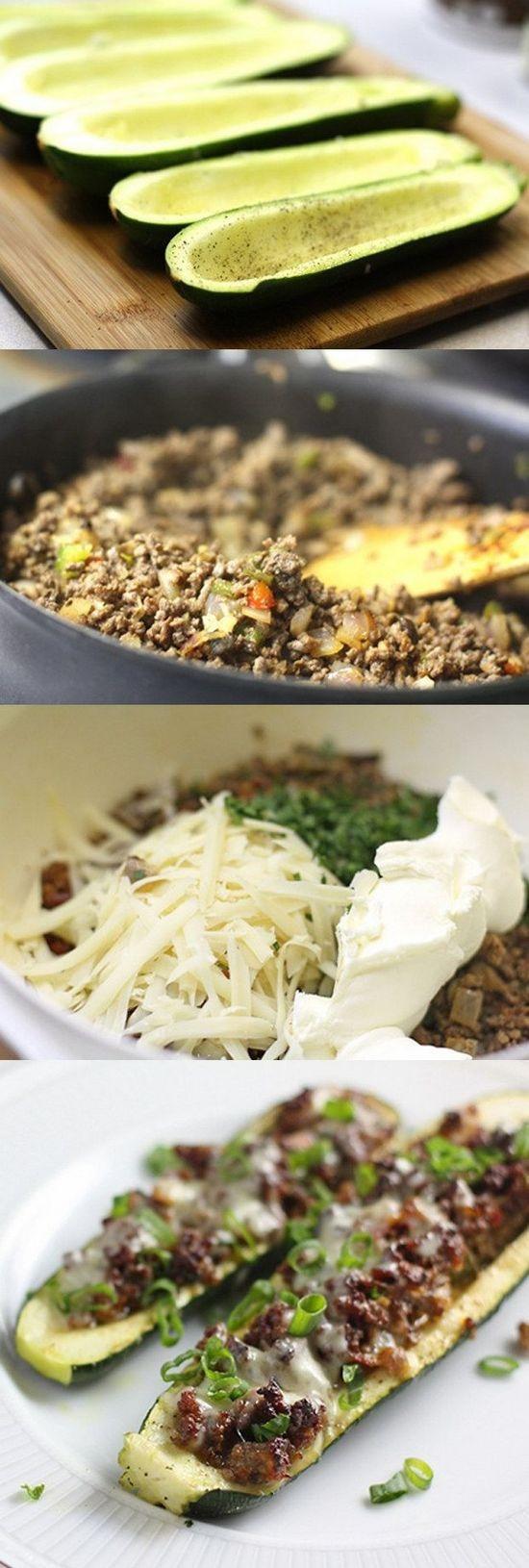 Запечь кабачок в духовке с фаршем и овощами