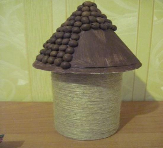 Моделирование поделки кофейными зернами