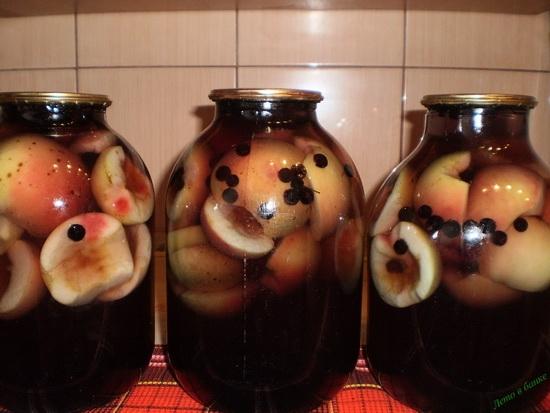 компот из яблок и черноплодной рябины на зиму рецепты
