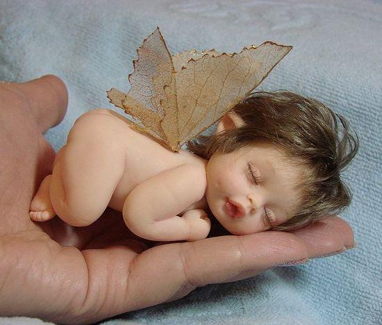 Кукла младенец из полимерной глины