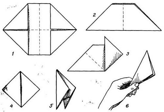 Как сделать хлопушку из бумаги: схема