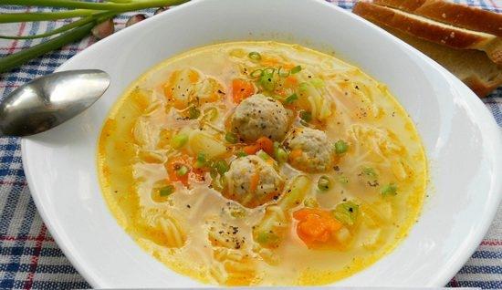 Суп с куриными фрикадельками и лапшой пошаговый рецепт