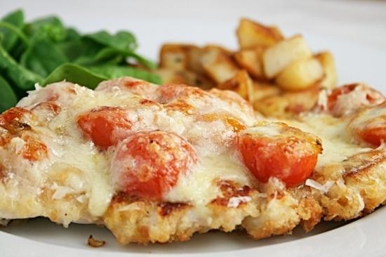 эскалоп из курицы с помидорами и сыром рецепт с фото
