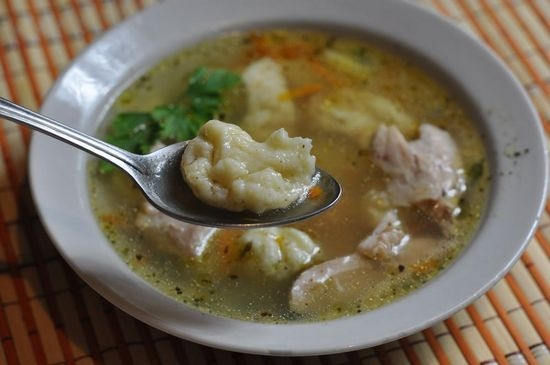 Клецки из манки для супа