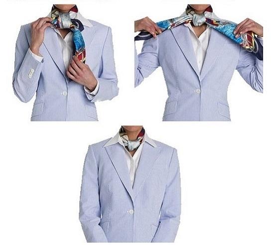 Как завязать маленький галстук квадратным узлом?