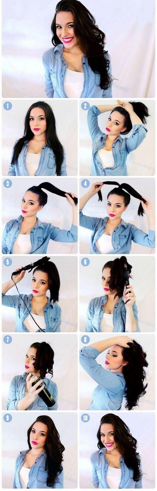 Как сделать красивые прически с накрученными волосами?