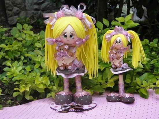 Как сделать куклу из фоамирана?