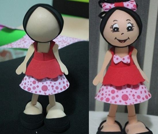 Кукла из фоамирана: готовое изделие
