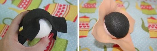Кукла из фоамирана: голова