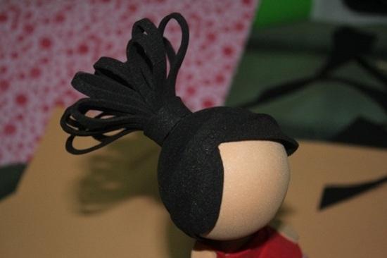 Кукла из фоамирана: хвостик