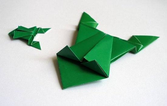 лягушка из бумаги своими руками пошаговая инструкция фото - фото 6
