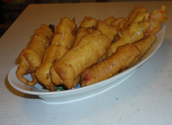 Крабовые палочки с сыром в кляре рецепт с пошагово
