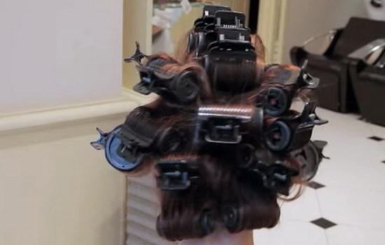 Как сделать крупные кудри на средние волосы с помощью бигуди