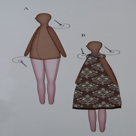 Кукла Тильда ангел: выкройки в натуральную величину
