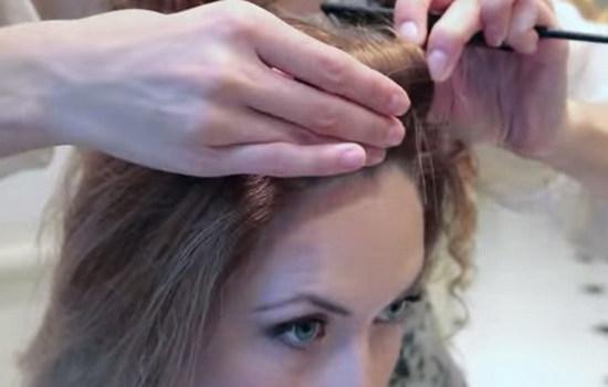 Крупные кудри на средние волосы