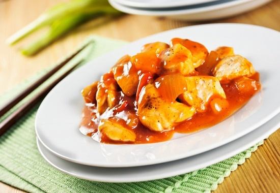 Курица в кисло-сладком соусе с медом