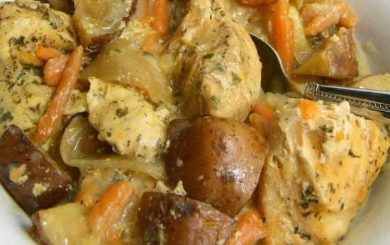 Курица тушёная с картошкой в казане рецепт с пошагово в