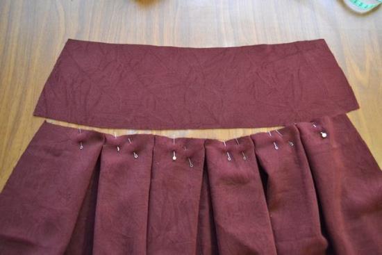 Выкройки юбки бантовыми складками