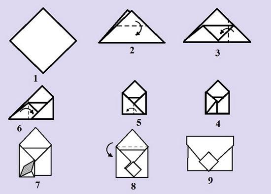 Как сделать конверт для денег из листа а4?