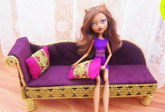 Как сделать диван для кукол Монстер Хай?