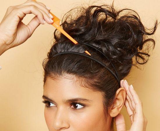 Как заколоть закрученные волосы в прическу