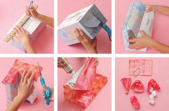 Как сделать диван для кукол из картона?