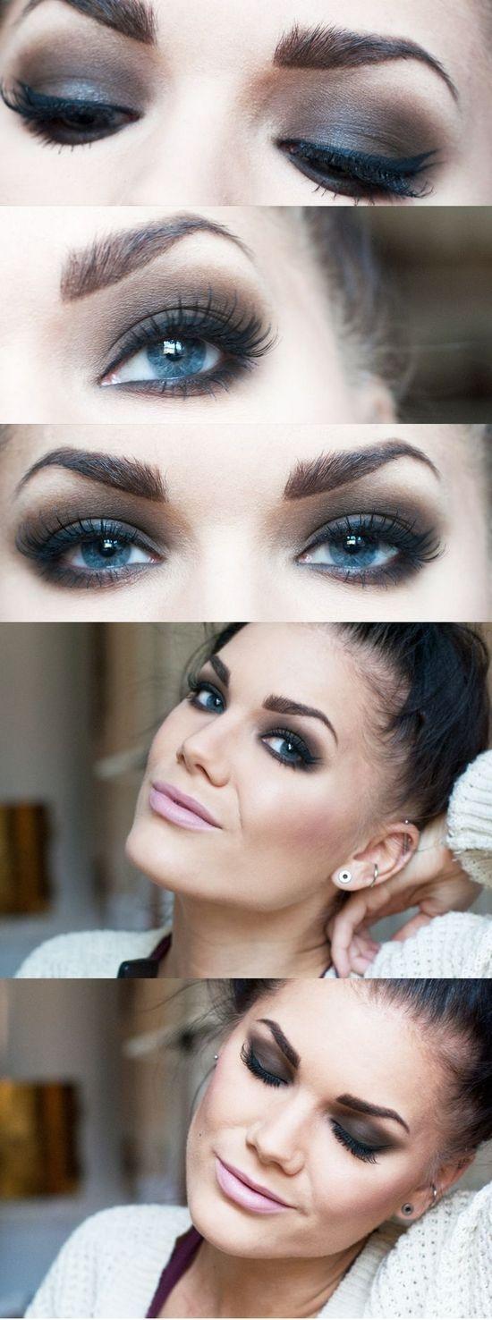 Как при макияже увеличить глаза фото пошаговое