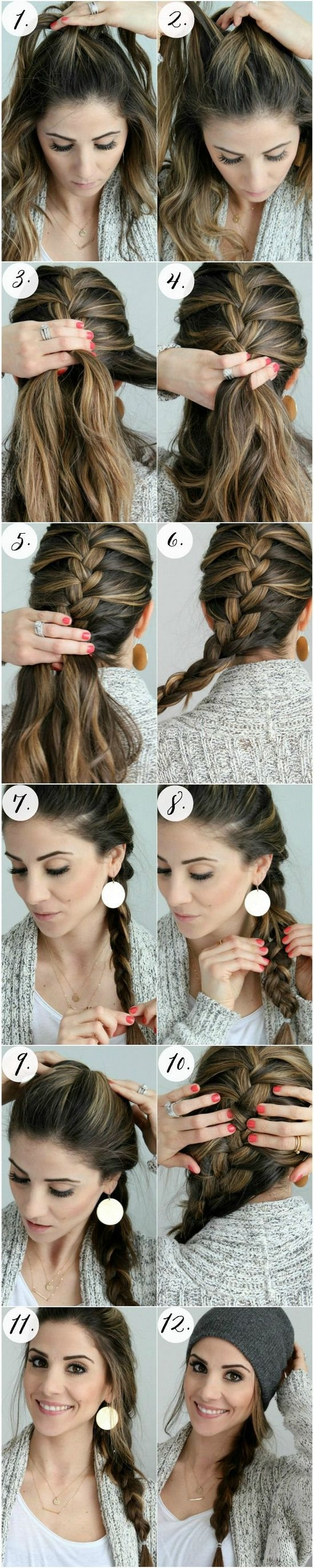 Как заплести французскую косу самой себе?