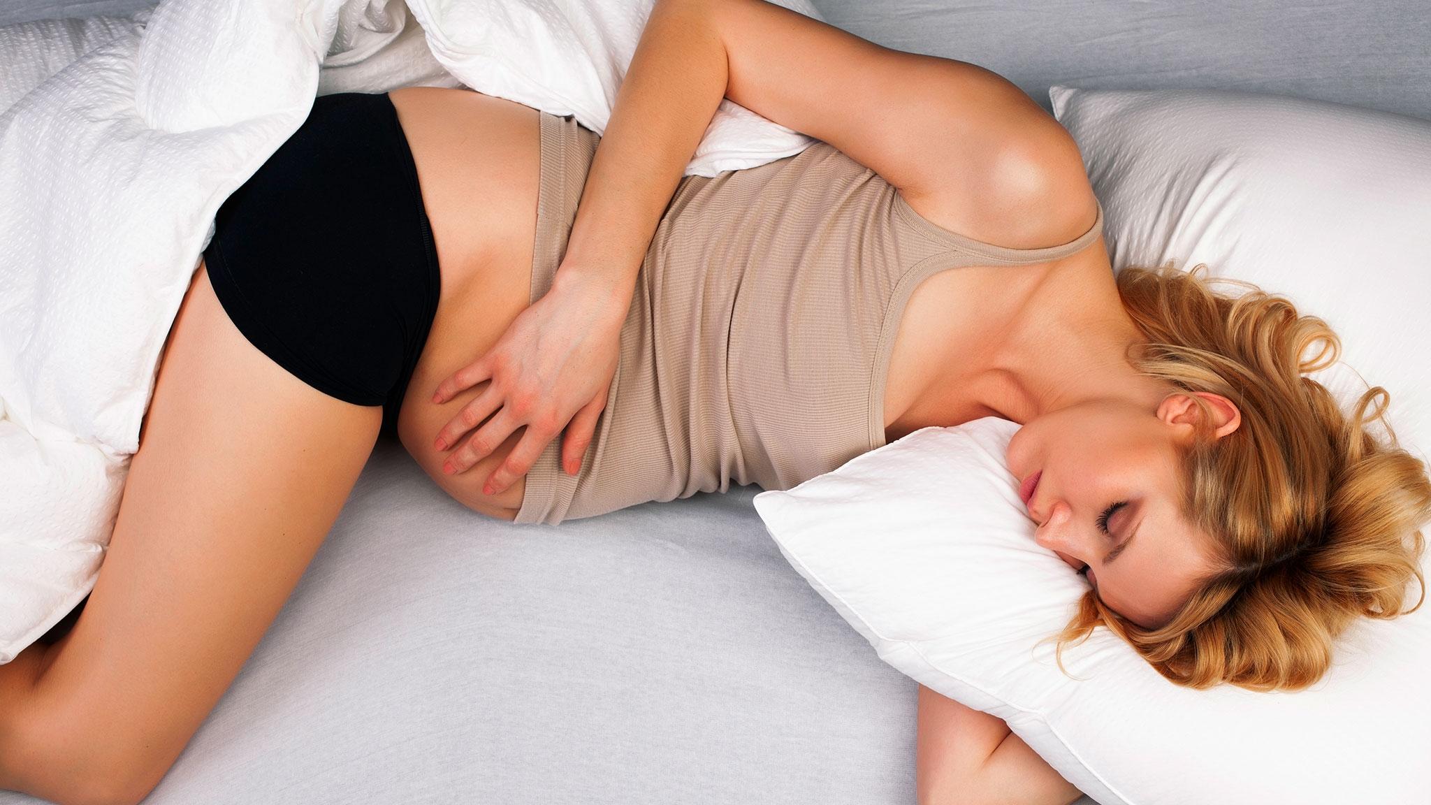 Можно ли спать на спине беременным во 2 и 3 триместре, LS