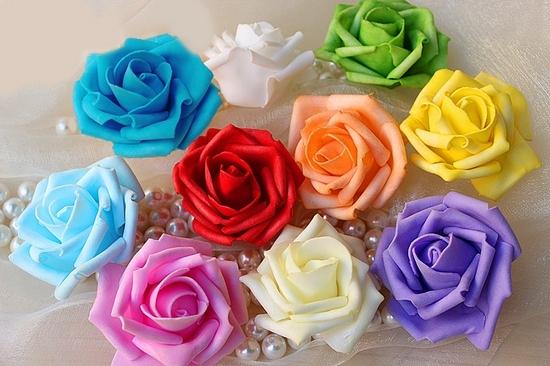 Цветы из фоама: воссоздаем природное изящество