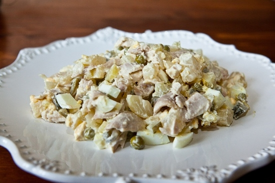 Салат оливье: рецепт классический с курицей
