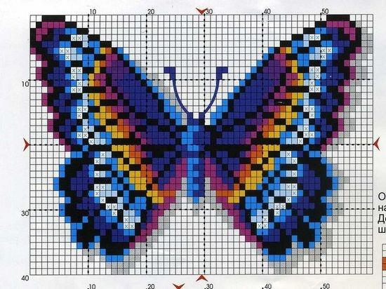 Бабочки из бисера  схемы для начинающих  b8bab7a492bdd
